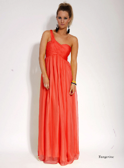 tangerine bridesmaids dress
